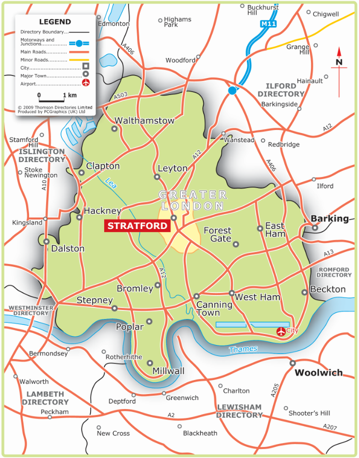 East London Map
